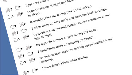 Sleep Survey screen shot